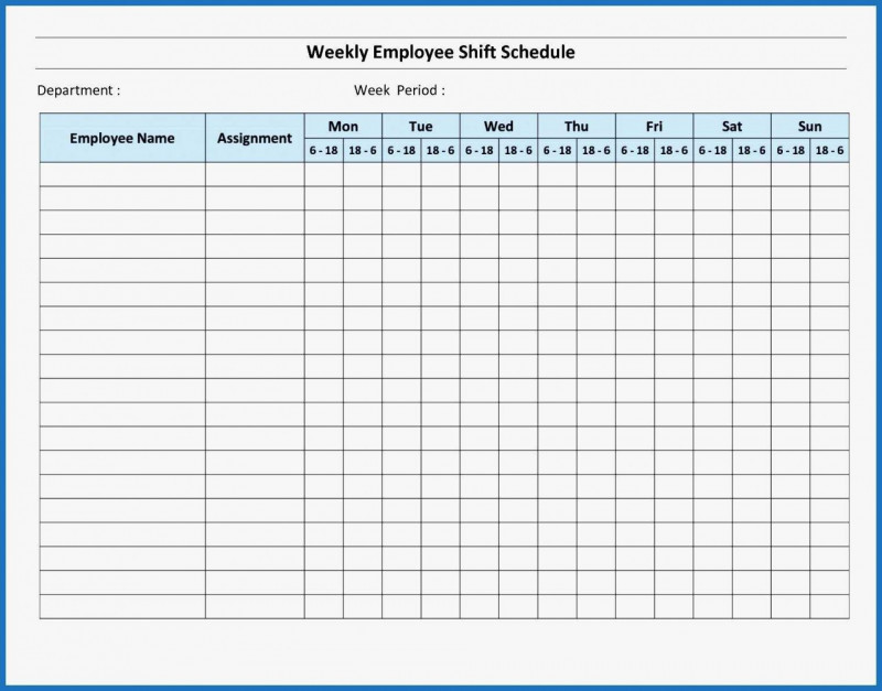 Blank Monthly Work Schedule Template Unique 008 Monthly Employee Schedule Template Excel Ideas Weekly