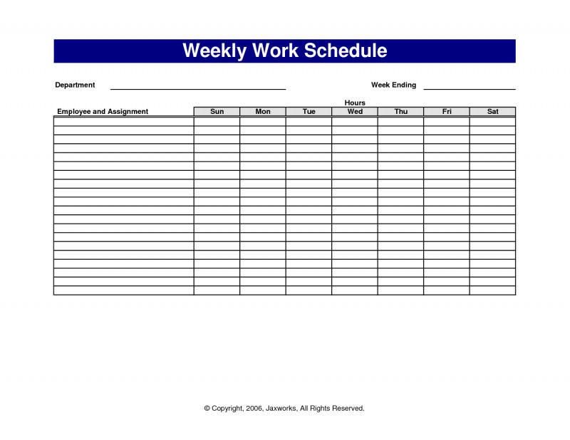 Blank Monthly Work Schedule Template Unique 4 Monthly Schedule Template Excel Authorization Letter Work