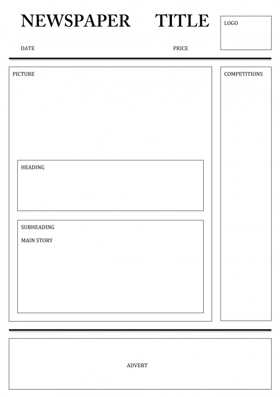 Blank Newspaper Template for Word Awesome Newspaper Template for Word Pdf Excel Templates Printable