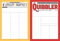 Blank Newspaper Template for Word New Harry Potter Newspaper Templates Paperzip