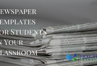 Blank Old Newspaper Template Unique Helpful Newspaper Templates for Students In Your Classroom