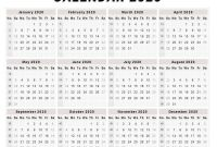 Blank One Month Calendar Template New Blank 2020 One Page Calendar Printable Monthly Calendar
