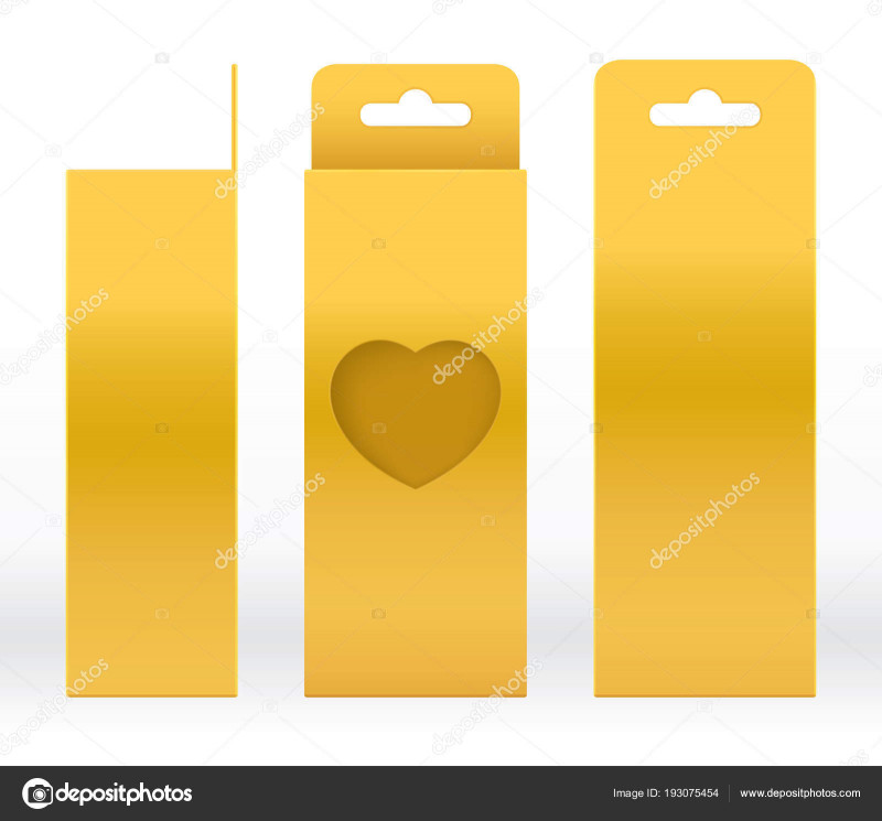 Blank Packaging Templates New Heart Box Template Hanging Box Gold Window Heart Shaped