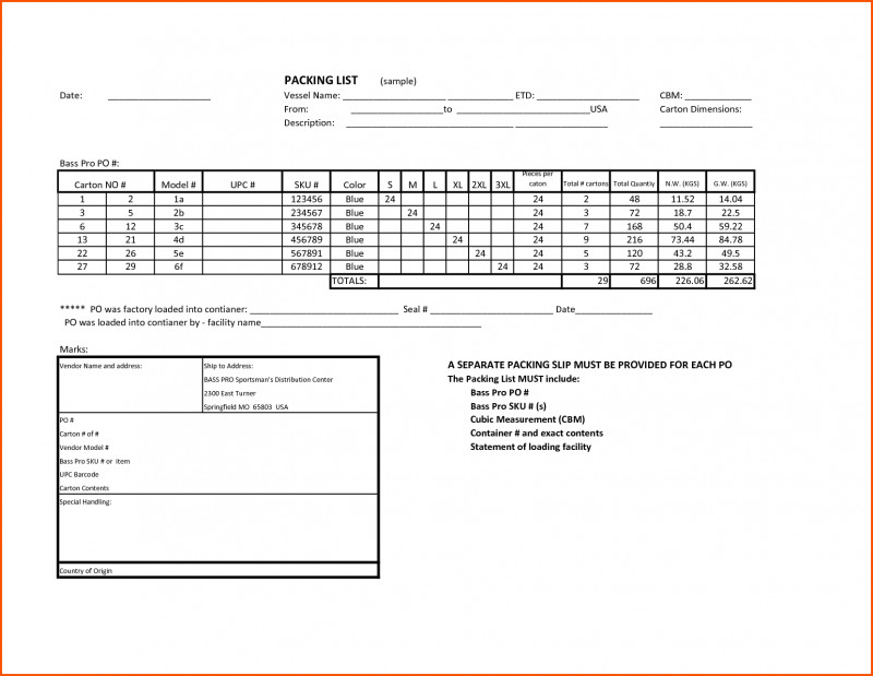 Blank Packing List Template Awesome 8 Sample Packing List Survey Template Words