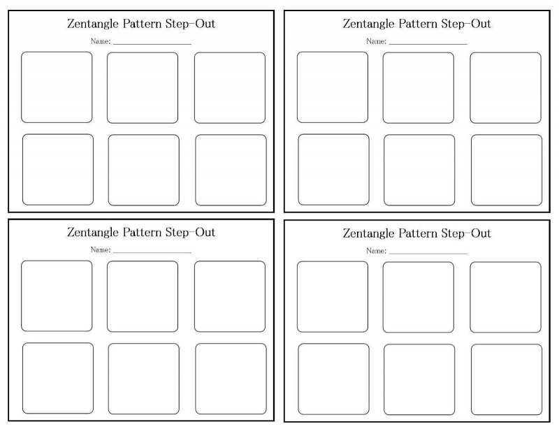 Blank Pattern Block Templates Unique Zentangle Patterns For Beginners My Blank Step Out
