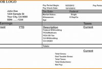 Blank Pay Stub Template Word Awesome Free Printable Pay Stub Template Check Templates Canadian
