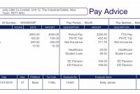 Blank Payslip Template Awesome Replacement Payslips Free Sample No Payment Required