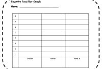 Blank Picture Graph Template New Favorite Food Bar Graph Activity 1st 4th Grade Bar Graph