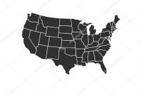 Blank Picture Graph Template Unique Blank Similar Usa Map isolated On White Background United