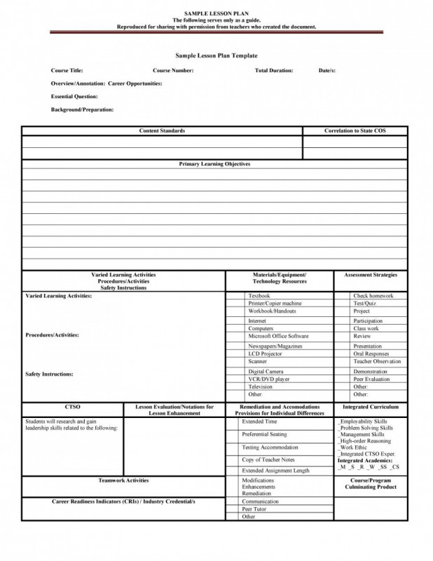 Blank Preschool Lesson Plan Template Unique 022 Blank Lesson Plan Template For Pre K Business Free