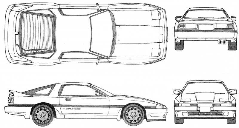 Blank Race Car Templates Awesome Toyota Supra Outline Vector Cqrecords