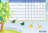 Blank Reward Chart Template New 20 Thorough Daily Routine Chart for Kids Template