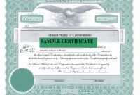 Blank Share Certificate Template Free Awesome 50 Stock Certificate Template Culturatti