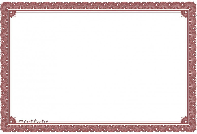 Blank Share Certificate Template Free Awesome Free Certificate Borders To Download Certificate Templates