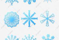 Blank Snowflake Template Unique Winter Vintage Blue Stereo Gradient Postcard Snowflakes