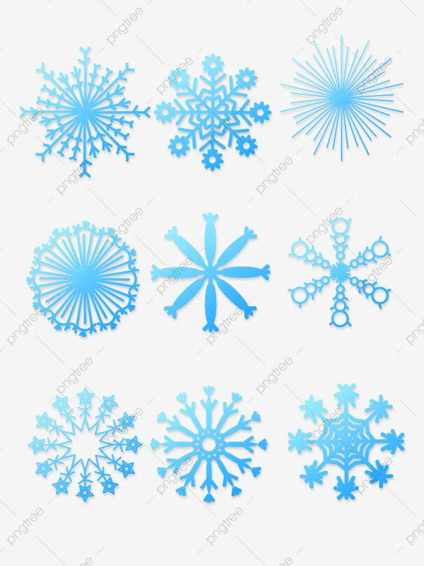Blank Snowflake Template Unique Winter Vintage Blue Stereo Gradient Postcard Snowflakes