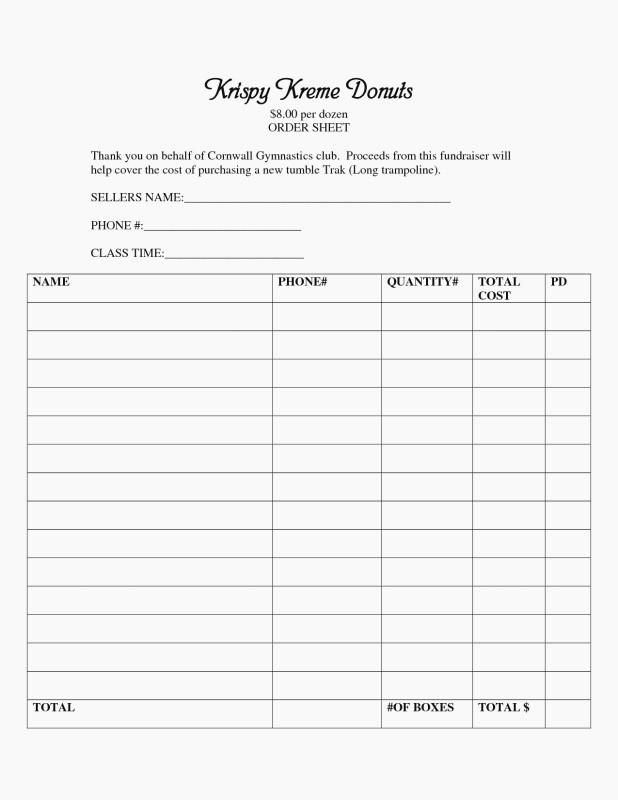 Blank Sponsorship Form Template Awesome 40 Blank Fundraiser Order Form Template Markmeckler