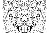 Blank Sugar Skull Template Awesome Free Sugar Skull Coloring Pages Download Download Free Clip