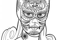 Blank Sugar Skull Template Awesome Sugar Skull Girl Coloring Pages Getcoloringpages Com
