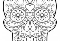 Blank Sugar Skull Template Unique Classy Ideas Skull Coloring Pages to Print for Adults
