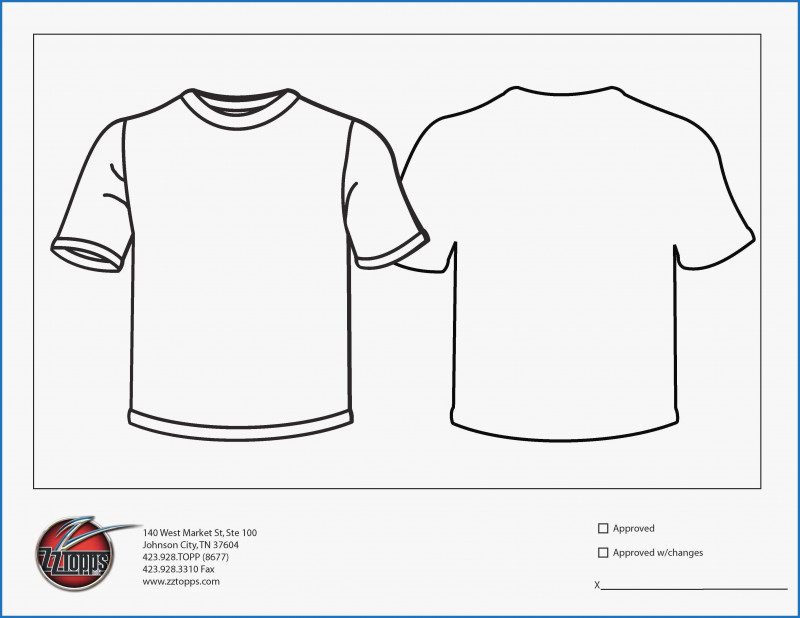 Blank T Shirt Outline Template Awesome Printable T Shirt Template Beautiful T Shirt Template