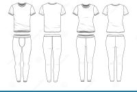 Blank T Shirt Outline Template New Blank Clothing Templates Stock Vector Illustration Of