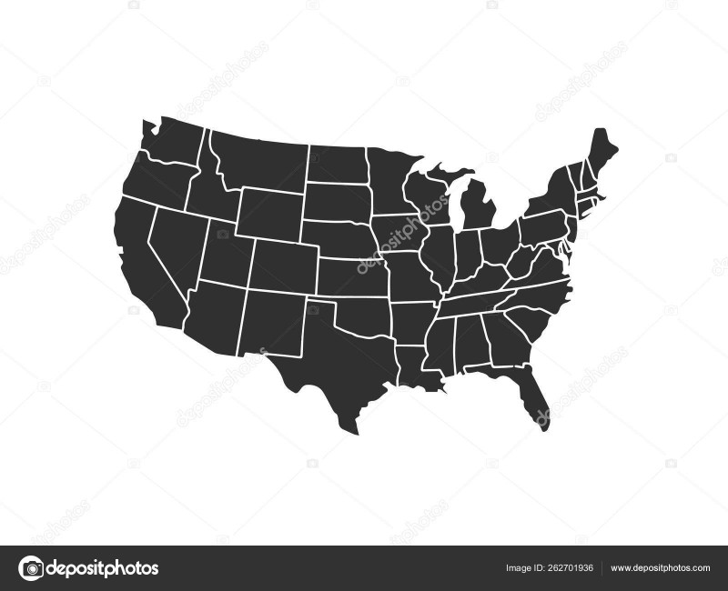 Blank Template Of The United States Awesome Blank Similar Usa Map Isolated On White Background United