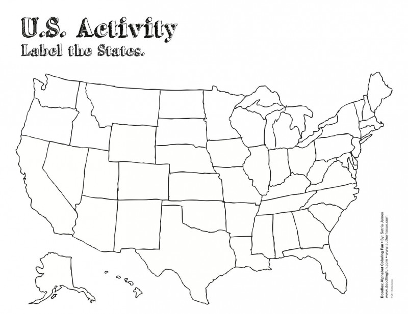 Blank Template Of The United States Unique Us Coloring Map Map Worksheets United States Map