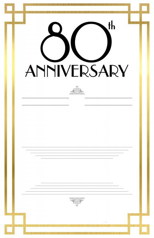 Blank Templates for Invitations Unique Free Printable 80th Birthday Invitations Free Printable