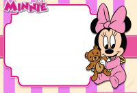Blank Templates for Invitations Unique Free Printable Minnie Mouse Pink Invitation Templates Free