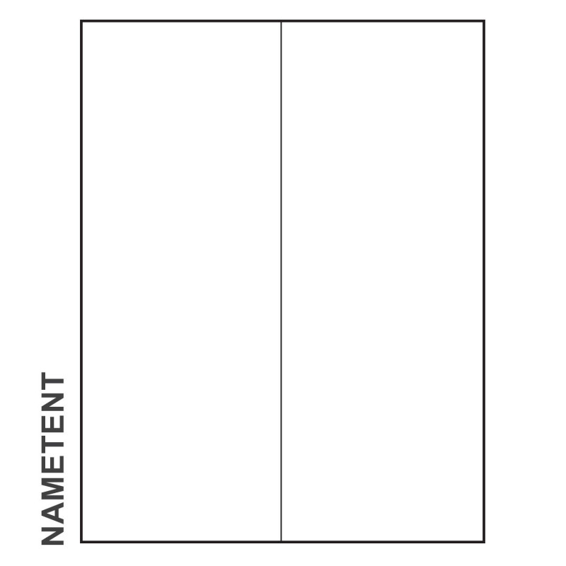 Blank Tent Card Template Unique 11 X 4 1 4 Paper Nametent Blank Pack Of 100 Nametents
