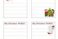 Blank to Do List Template New Christmas List Template
