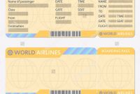 Blank Train Ticket Template Awesome Airline or Plane Ticket Template Boarding Pass Blank and