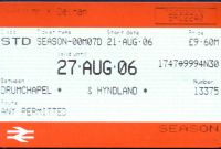 Blank Train Ticket Template Awesome Tickets From Scotland