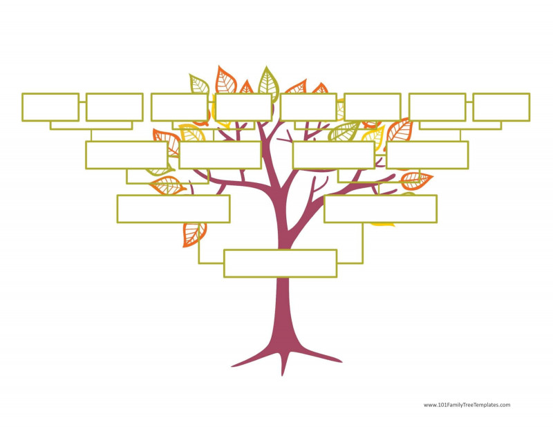 Blank Tree Diagram Template New Blank Family Tree Template Free Instant Download