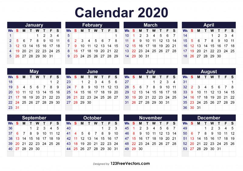 Blank Tshirt Template Pdf New 210 2020 Calendar Vectors Download Free Vector Art