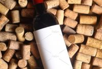 Blank Wine Label Template Awesome Red Wine and Corks