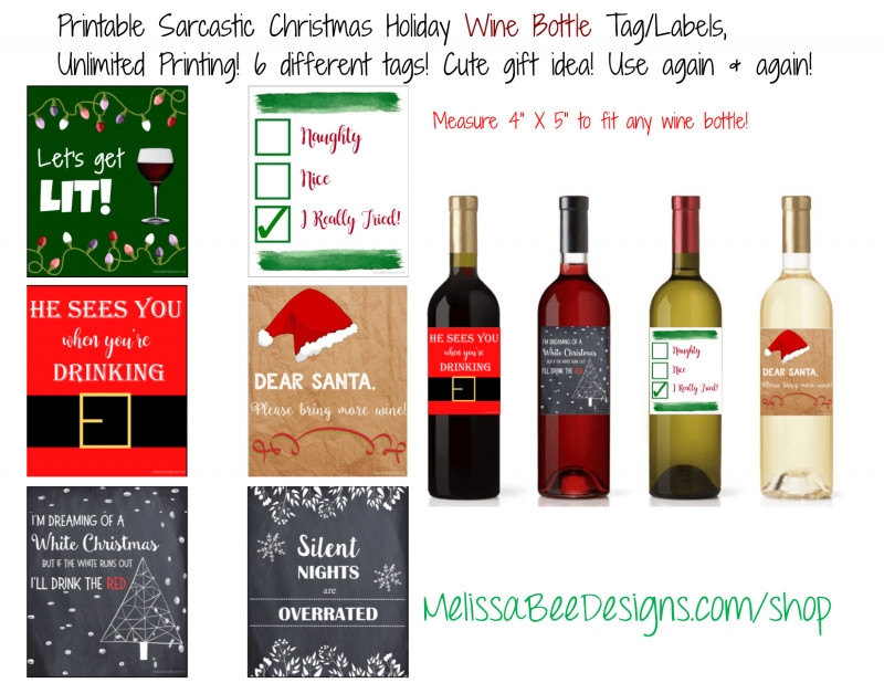 Blank Wine Label Template New Printable Sarcastic and Funny Wine Labels Christmas Holiday