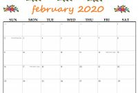 Blank Word Wall Template Free Unique Free Cute February 2020 Calendar Simple and Very Pretty