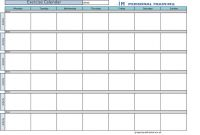 Blank Workout Schedule Template Awesome Exercise Calendar by Kerrybuckvic Xmdrrdox Workout