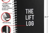Blank Workout Schedule Template Awesome the Lift Log Workout and Fitness Journal 5 5 X 8 5
