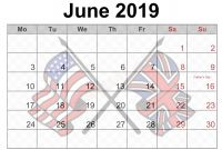 Blanks Usa Templates New 5 Blank June Calendar 2019 with Holidays Uk Usa Blank