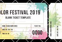 Blanks Usa Templates New Blank Festival Ticket Template