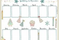 Customizable Blank Check Template Unique Birthday Calendar Template Birthday Calendar Perpetual