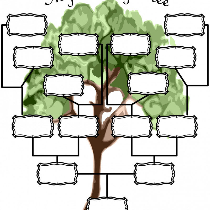 Fill In The Blank Family Tree Template New New Printable Family Tree Charts Konoplja Co