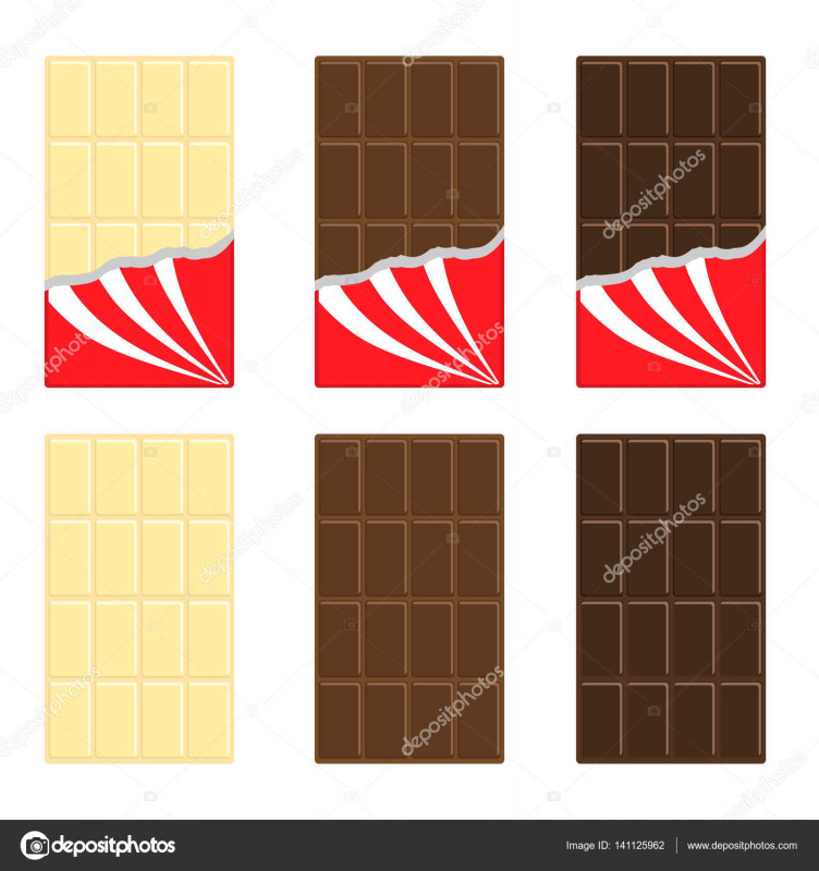 Free Blank Candy Bar Wrapper Template New Aˆ Empty Chocolate Wrappers Stock Illustrations Royalty