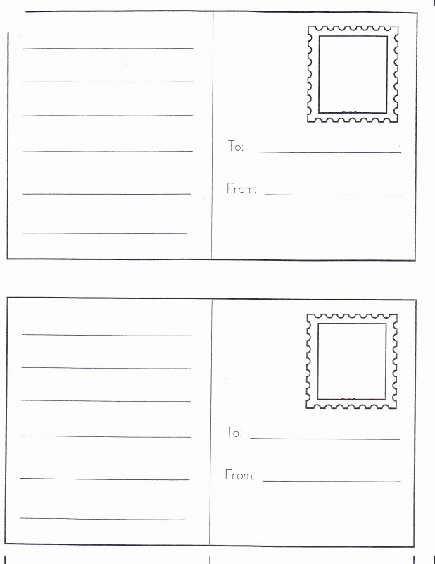 Free Blank Postcard Template For Word Awesome Free Printable Postcard Templates Locksmithcovington Template