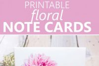 Free Printable Blank Greeting Card Templates Awesome Printable Floral Note Cards Templates Printable Free Note