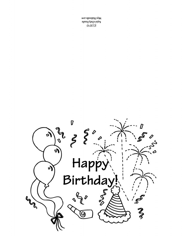 Free Printable Blank Greeting Card Templates Unique Free Printable Birthday Cards Black and White Mult Igry Com
