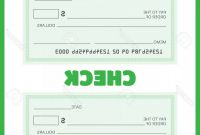 Large Blank Cheque Template Awesome Oversized Check Bank Vector Boozeworthy